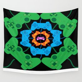 Neon Gaming Wall Tapestry