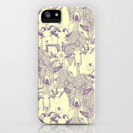 just goats purple cream iPhone Case