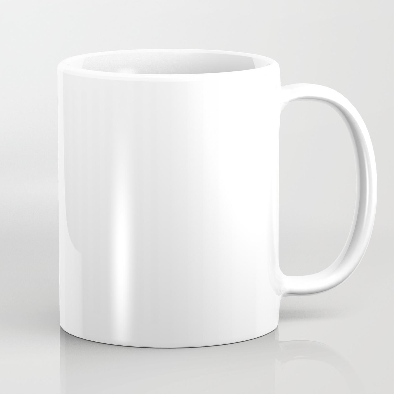White Minimalist Coffee Mug By