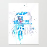 r2d2 Canvas Prints featuring R2D2 by sooarts