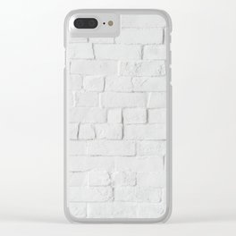 White Brick Clear iPhone Case
