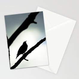 Silhouetted Singer Stationery Cards