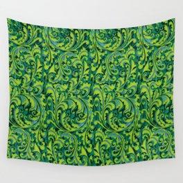 Verdant Victorian Vegetation Wall Tapestry