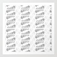 Pistol Pattern Art Print