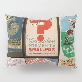 Full Vintage Poster Collage Pillow Sham