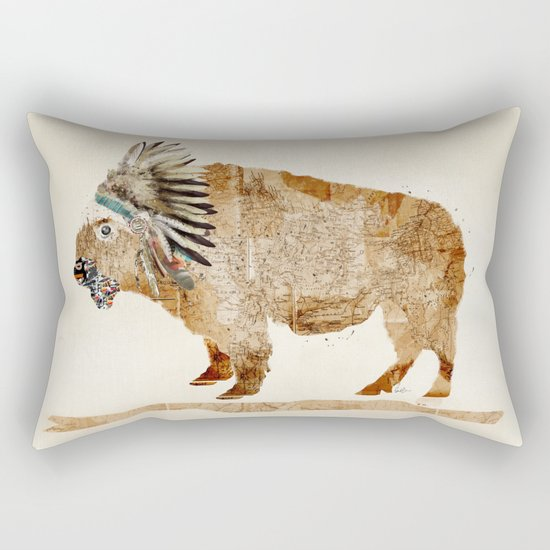 buffalo Rectangular Pillow