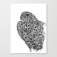 hawk Canvas Prints featuring Hawk by kayse wieneke