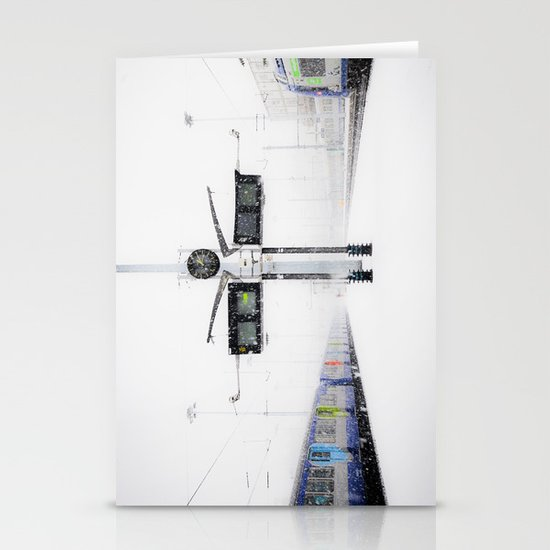 blizzard in Paris Stationery Cards