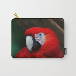 Scarlet Macaw Bird Carry-All Pouch