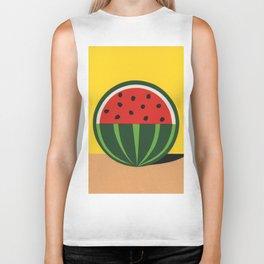 Three Quarter Watermelon Biker Tank