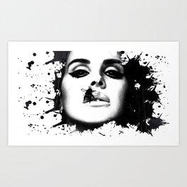 Watercolour effect print  Art Print