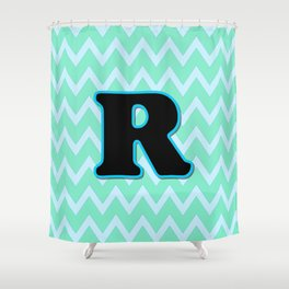 Letter R Shower Curtain