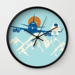 Hitchin' a Ride Wall Clock