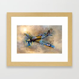 Spitfire Dawn Flight Framed Art Print