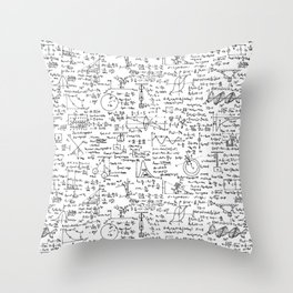Physics Equations on Whiteboard Throw Pillow