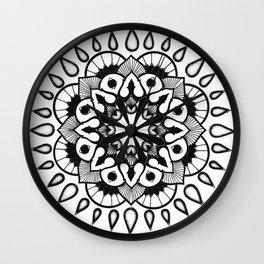 black//white Wall Clock