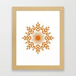 harvest sun Framed Art Print