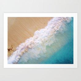 Dream Beach wave Art Print