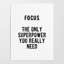 Motivational - Focus Poster