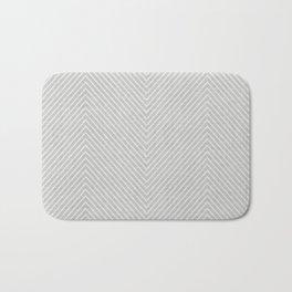 Stitch Weave Geometric Pattern in Grey Bath Mat