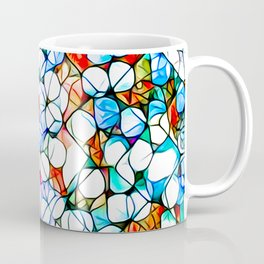 Glass stain mosaic 4 - dots & checkers Coffee Mug
