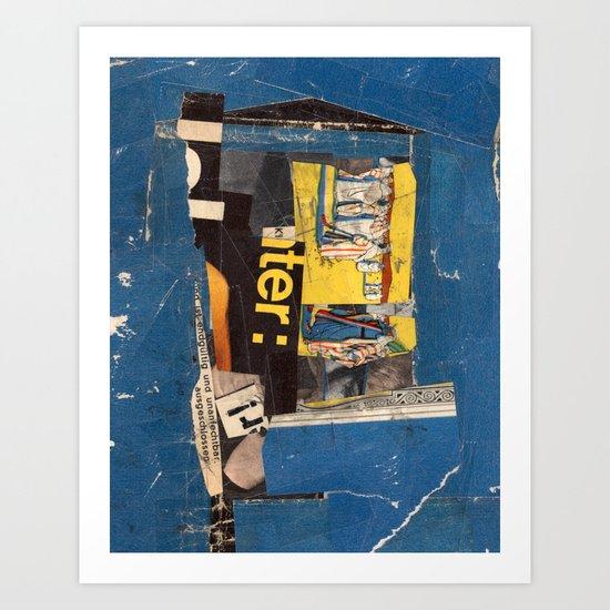 fundamental blue Art Print