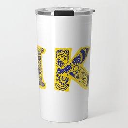 Fika- Folk style Travel Mug