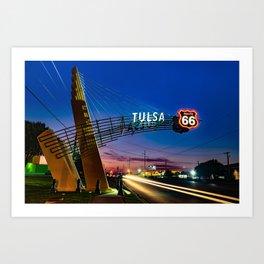 Tulsa Oklahoma Route 66 Western Gateway Arch Art Print
