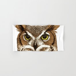 Great Horned Owl Hand & Bath Towel