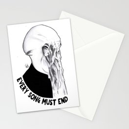 I think your song must end soon Stationery Cards