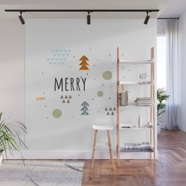 Minimal Holiday Designs :: Merry Wall Mural