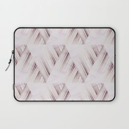 Abstract geometric pattern.Pinkish beige striped triangles . Laptop Sleeve