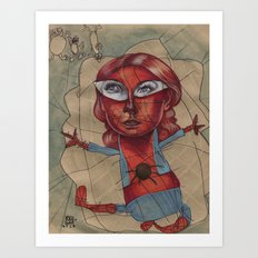 SPIDEY'S COBWEBS Art Print