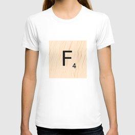 Letter F - Scrabble Art T-shirt