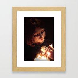 Light is my hapiness Framed Art Print
