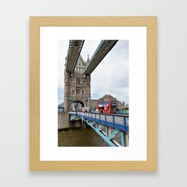 Busy Tower Bridge Framed Art Print