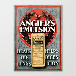 Angiers Emulsion Vintage Advertising Canvas Print