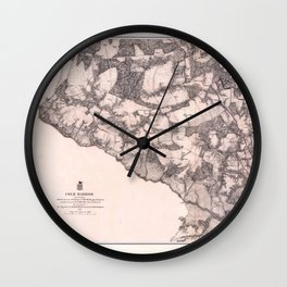 Map of Cold Harbor, Virginia (June 1-3, 1864) Wall Clock