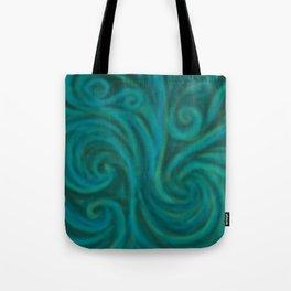 teal swirl Tote Bag