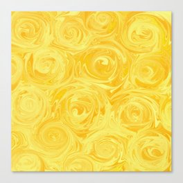Honey Yellow Roses Abstract Canvas Print