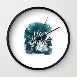 Feuerfisch Wall Clock