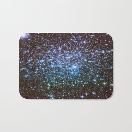 Winter Blues Galaxy Stars Bath Mat
