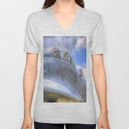 Mig-29B Fighter Jet Unisex V-Neck