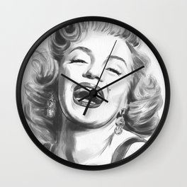 Marylin Monroe Watercolor Wall Clock