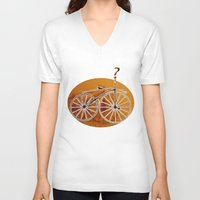 bike V-neck T-shirts featuring Bike by CrismanArt