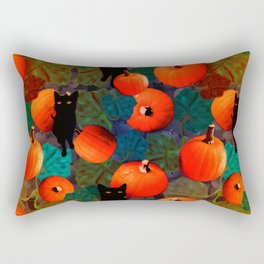 Pumpkins and Black Cats Rectangular Pillow