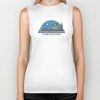 vancouver Biker Tanks featuring Vancouver by Campbell Graphix