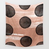 rose gold Wall Tapestries featuring rose gold #2 by LEEMO