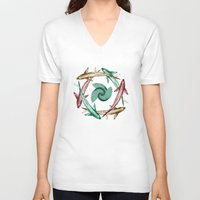 circle V-neck T-shirts featuring Circle by DebS Digs Photo Art