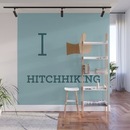 I heart Hitchhiking Wall Mural